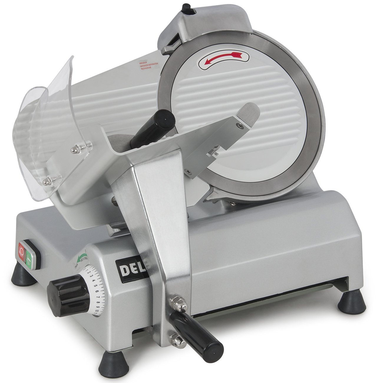 Della 10'' Blade Commercial Deli Meat Cheese Food Electric Slicer