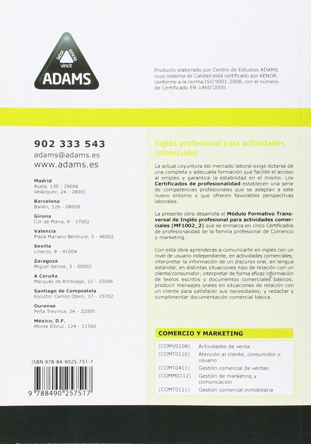 INGLES PROFESIONAL PARA ACTIVIDADES COMERCIALES: 9788490257517: Amazon.com: Books