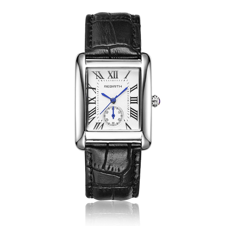 c7cfebd49 Amazon.com: Bosymart Women's Quartz Square Dial Roman Numeral Leather Strap  Watch Dress Watch: Watches