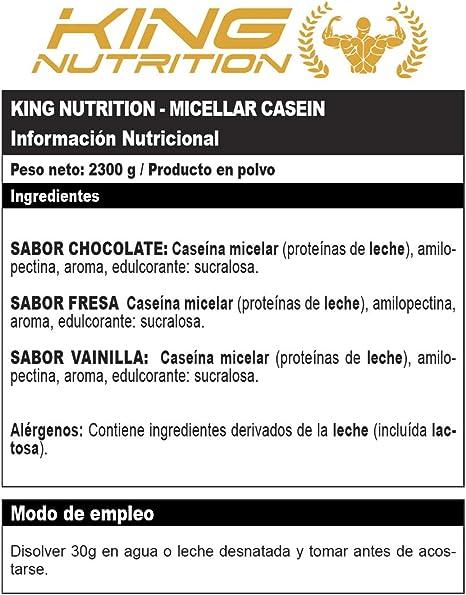 CASEIN MICELLAR 2,3Kg Chocolate KING NUTRITION ...