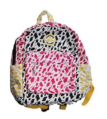 369c319934 Amazon.com  CONVERSE ALL-STAR PRINTED BACKPACK Book Bag NEW 9A5171-661 Pink  Yellow 14x11x6  Shoes