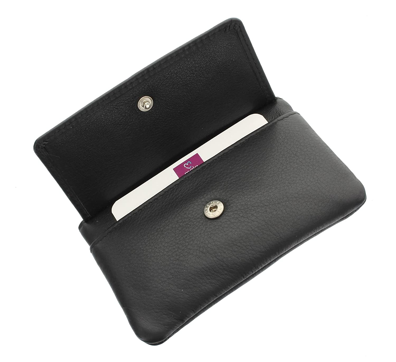 RED PURPLE! Mala Leather ORIGIN RFID coin purse PLUM real soft leather 4110 5