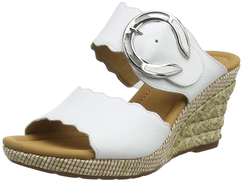 Weiß (Weißs (Bast) 50) Gabor Damen Comfort Sport Pantoletten