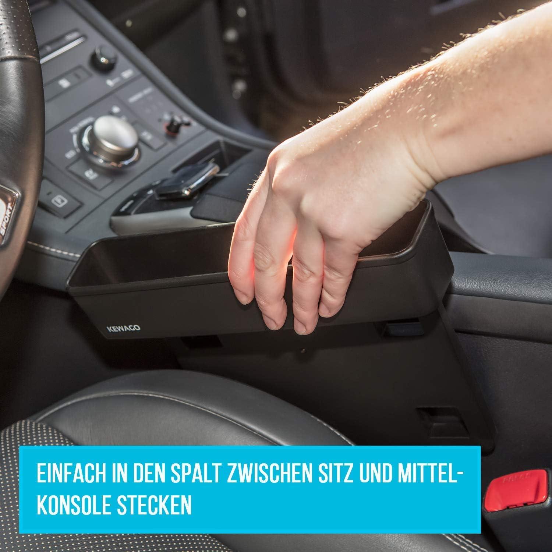 Kewago Auto Organizer Und Zusatzfach Autozubehör Für Den Innenraum Einfach Zwischen Autositz Und Konsole Einsteckbar Auto