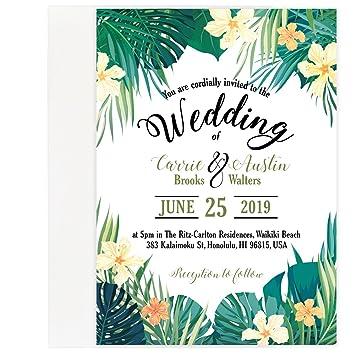 amazon com custom tropical beach wedding save the date invitation