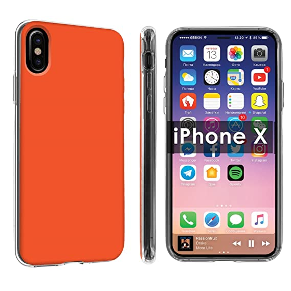 cheap for discount 92eab 33054 Amazon.com: Apple iPhone X Case [Clear] [Tangerine] NakedShield ...