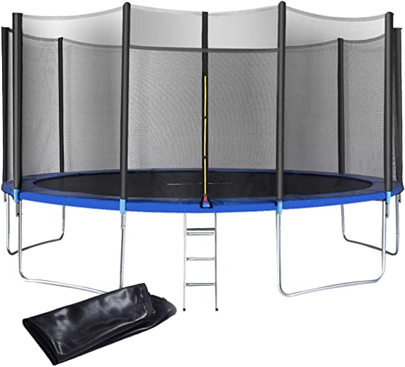 Giantex 12 FT 15 FT Trampoline Combo Bounce Jump Outdoor Trampoline for Family School Entertainment