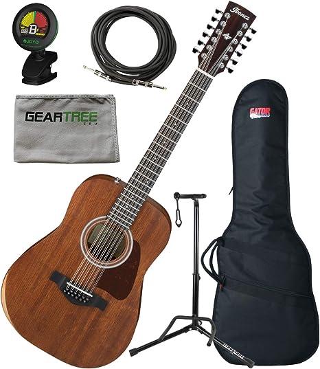 Ibanez AW5412JROPN Guitarra acústica de 12 cuerdas con poro ...
