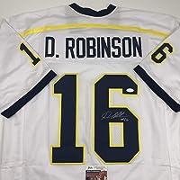 $94 » Autographed/Signed Denard Robinson Michigan White College Football Jersey JSA COA