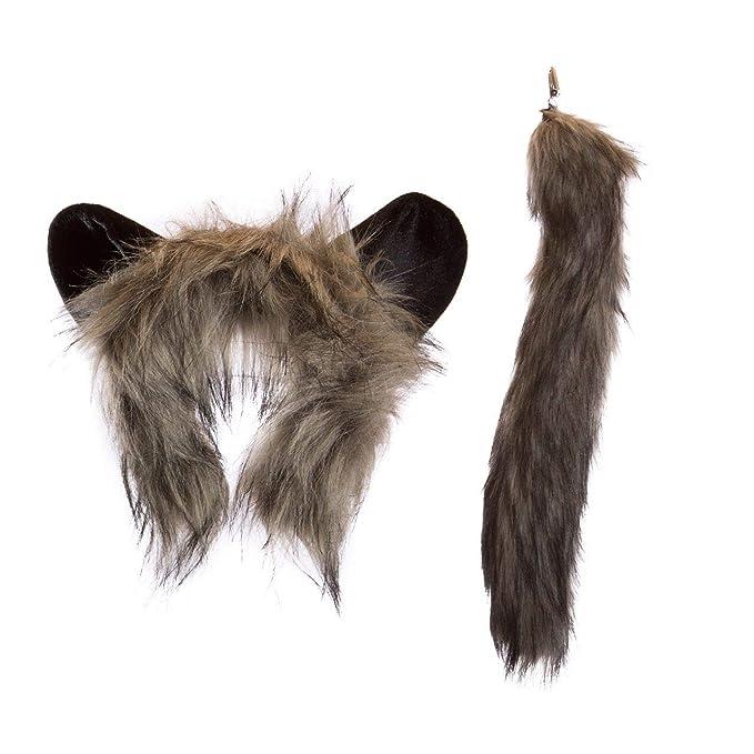 Amazon.com  Wildlife Tree Plush Aye-Aye Lemur Ears Headband and Tail Set  for Lemur Costume 79573f89bbfd