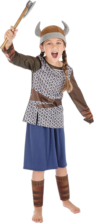 Bristol Novelty CF205 (S) - Disfraz de chica vikinga, color marrón ...