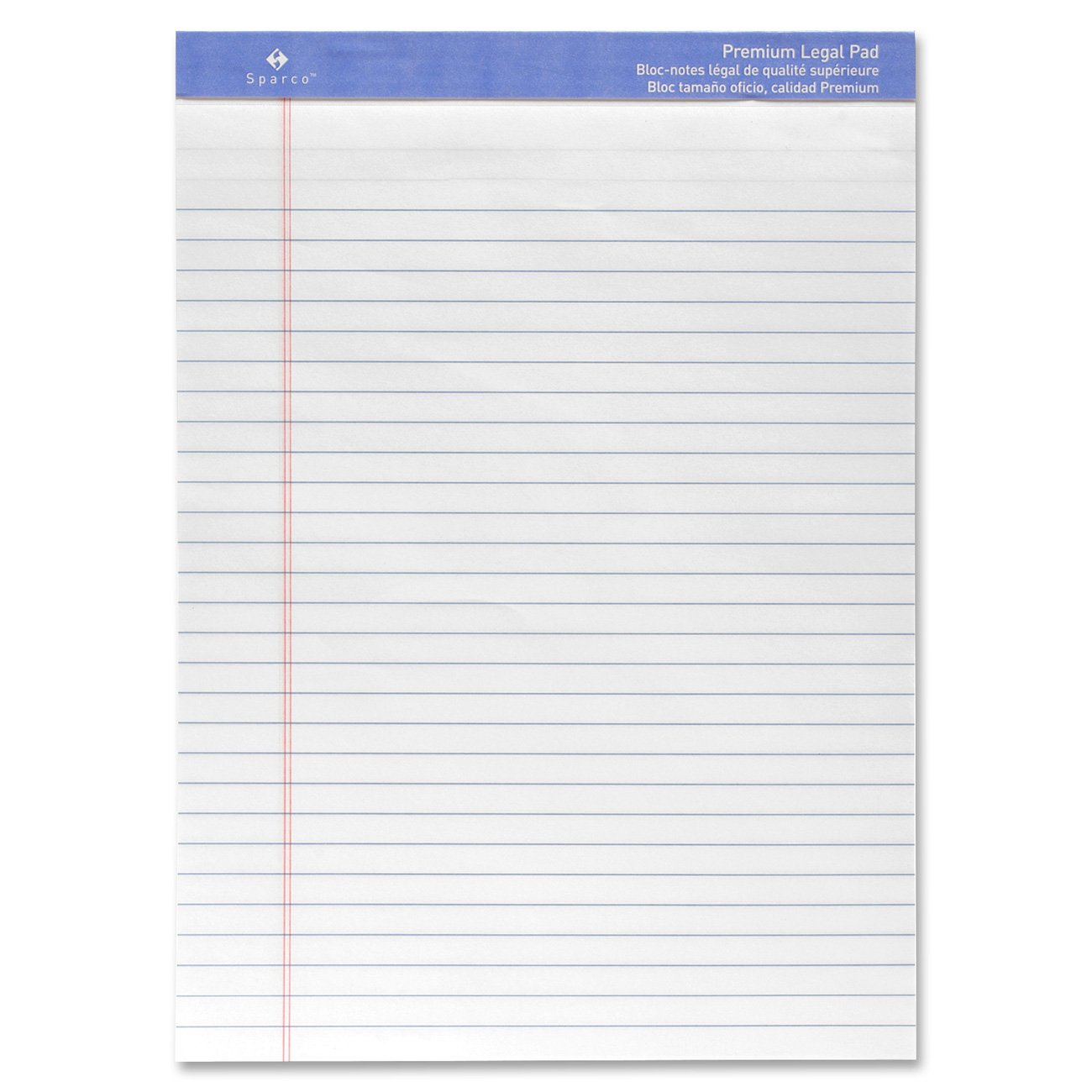 Perforated Wide Pad, 50 Sheets, 8-1/2 x 11-3/4 Inches, White