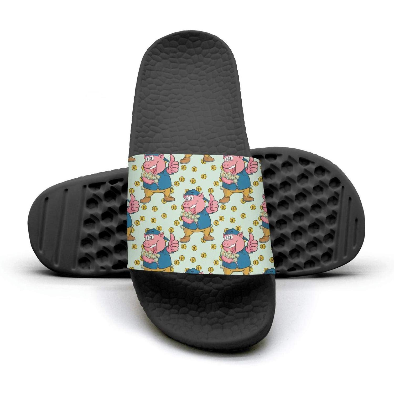 Pretty women Nasty Pig Year With Money Slip on Beach Sandals and Anti-Slip Shower Slipper Comfort Sandals