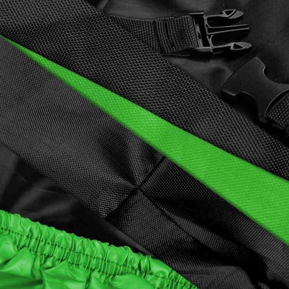 DeliaWinterfel XXL Funda Protector Lona para Moto Motocicleta para Garaje o Aire Libre Plegable con Bolsillos 265 x 105 x 125 cm by Verde y Negra