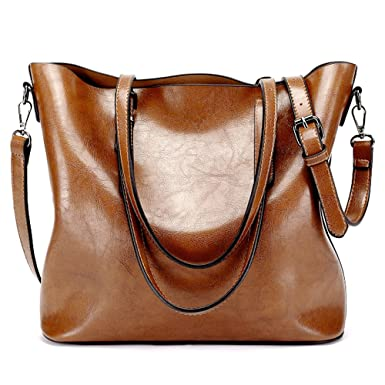LWK Women Handbags Fashion Handbags for Women Simple PU Leather Shoulder  Bags Messenger Tote Bags 285 4d3699375adeb