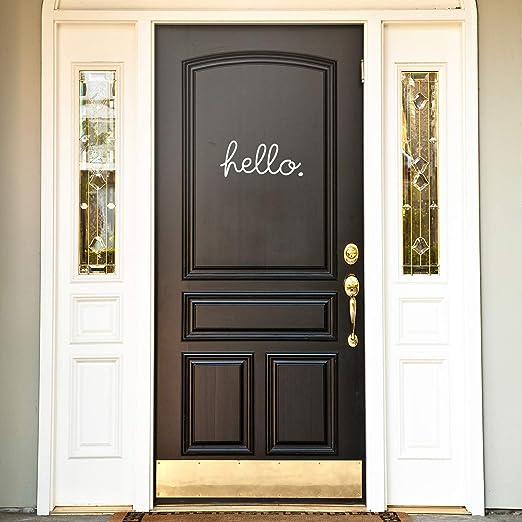 Cute front door decal