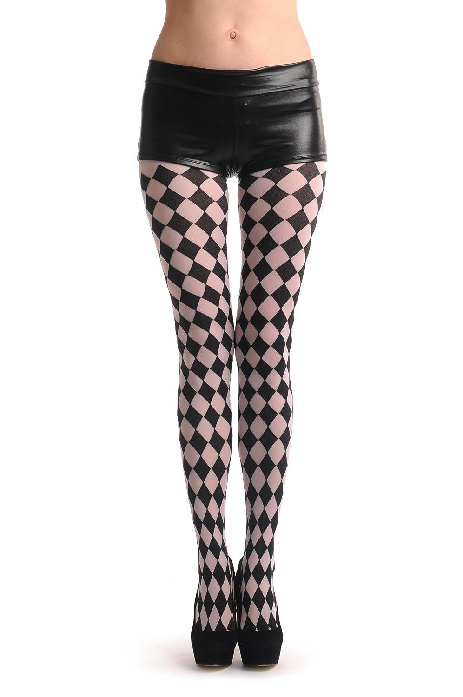 Black & White Harlequin - Tights T000674