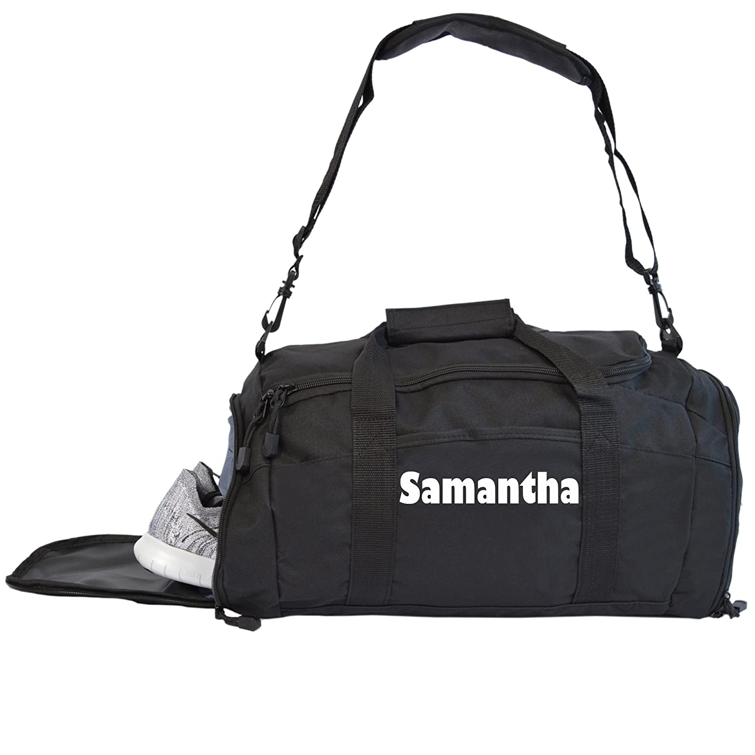 Kaysees Personalized Gym Bag With Zippered Pockets and Player Name