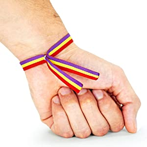 HAND-PRO Pulsera Republicana Española (8x30cm/2,40 Metros) Pulsera Republicana Pulsera Republicana Cinta Pulsera Cinta Republica: Amazon.es: Joyería