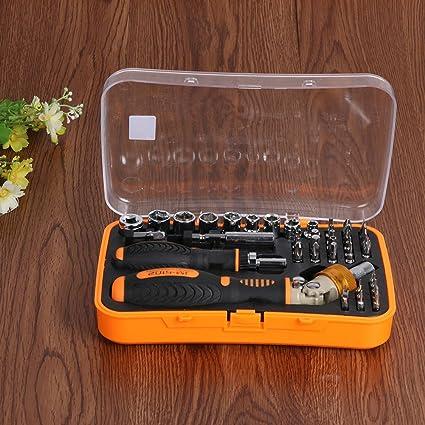 JM-6102 43 in1 Multi Tool Set Hand Tools Repair Tool Kit Precision Screwdriver Set Tool Box for Cell Phone Laptop Electronic