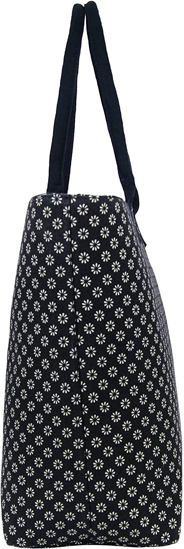 Sac de voyage 3155 Sac de shopping Noir Jazzi Sac /à main fourre-tout en toile pour femme Sac /à bandouli/ère Sac de plage Style d/écontract/é