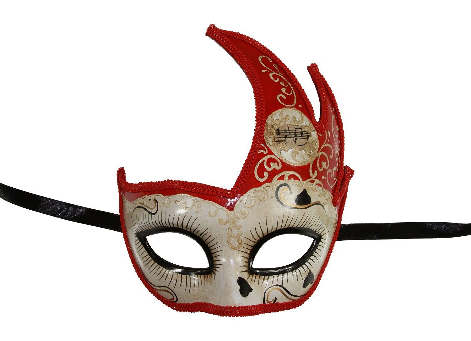 KAYSO INC Love Me Collection Swan Venetian Masquerade Mask (Red)
