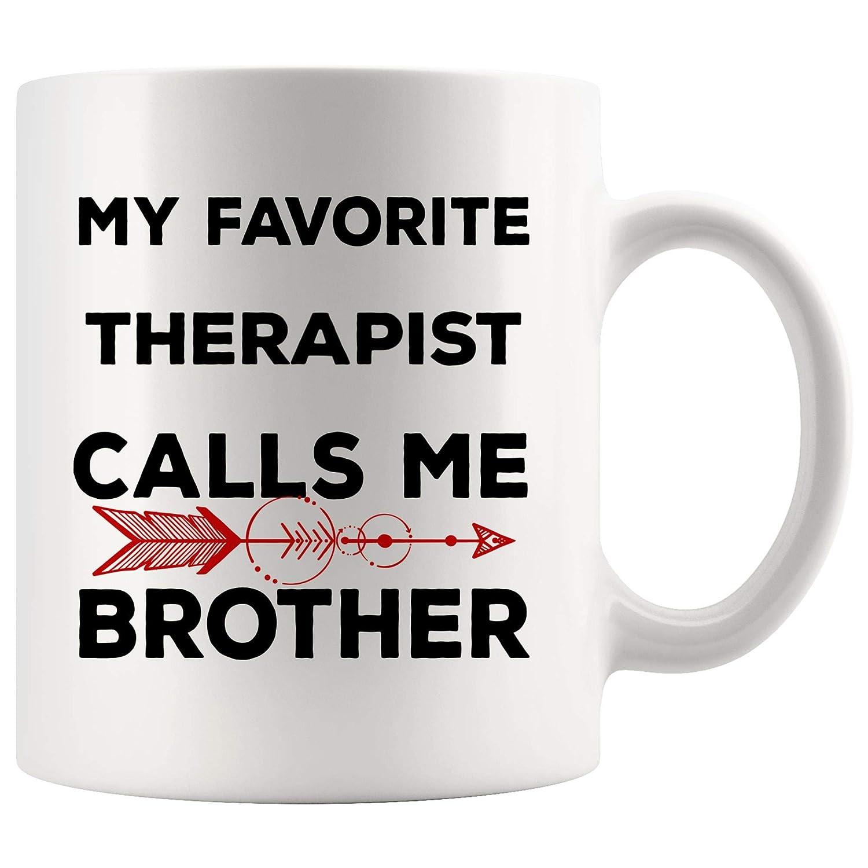 Amazon com: My Favorite Therapist Mug Coffee Cup Calls Me