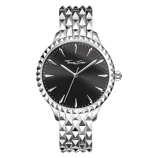 Thomas Sabo Reloj para mujer Rebel at Heart Negro WA0319-201-203-38