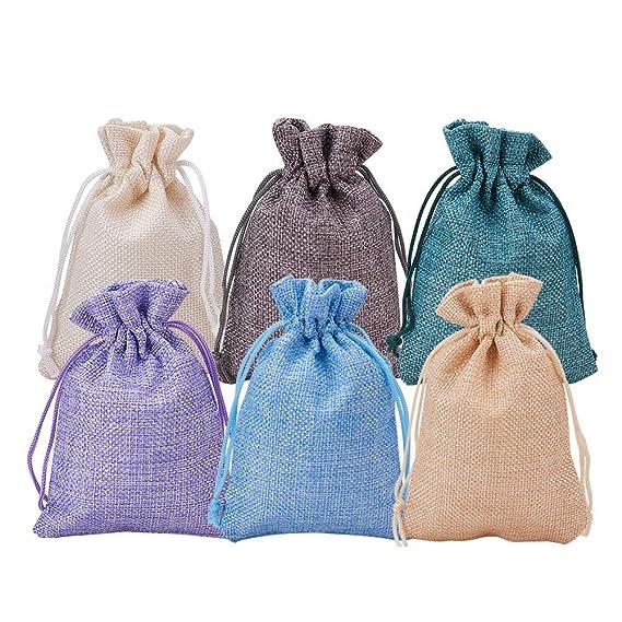 Amazon.com: Benecreat - Bolsas de arpillera con cordón para ...