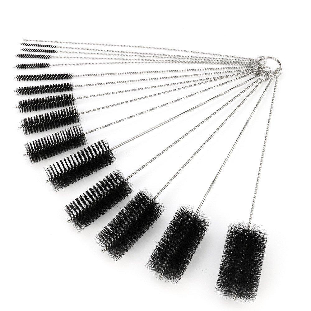 ♛Euone Wine Stopper ♛Clearance♛, 15 Pcs Black Coloe Multi-Functional Tools Brush Spray Brush Pots Bottle 25cm