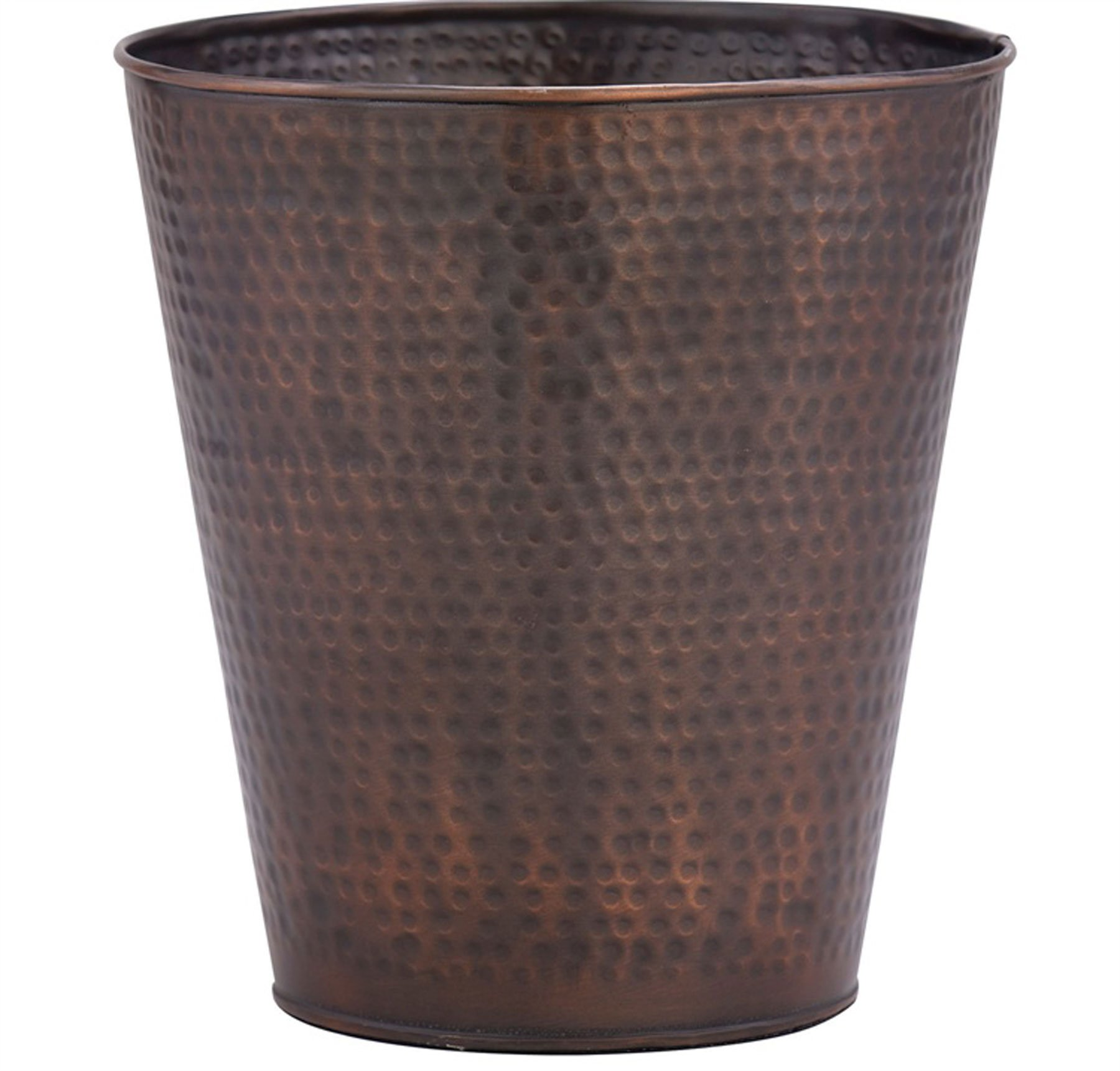 Hammered Copper Finish Antique Style Waste Basket by Park Designs