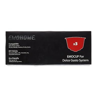 Emohome - Capsulas Recargables para Dolce Gusto - 3 cápsulas