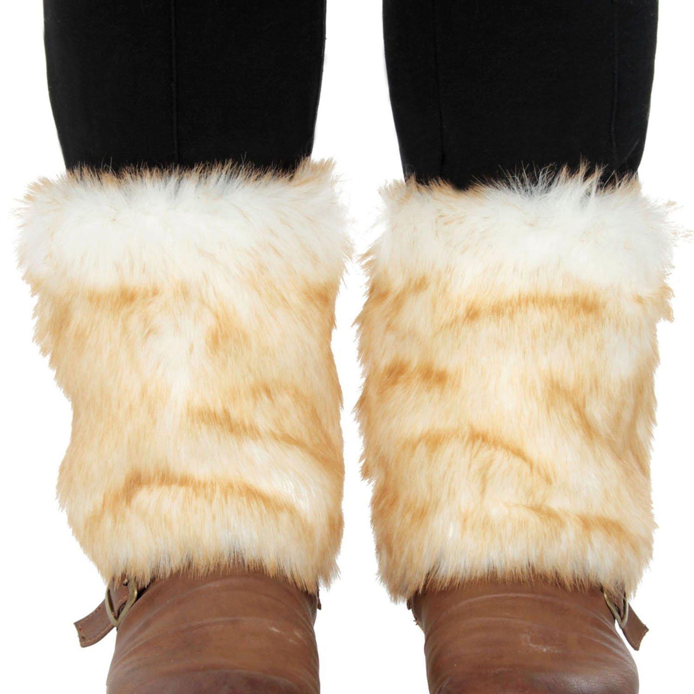 Simplicity Women's Winter Faux Fur Leg Warmers