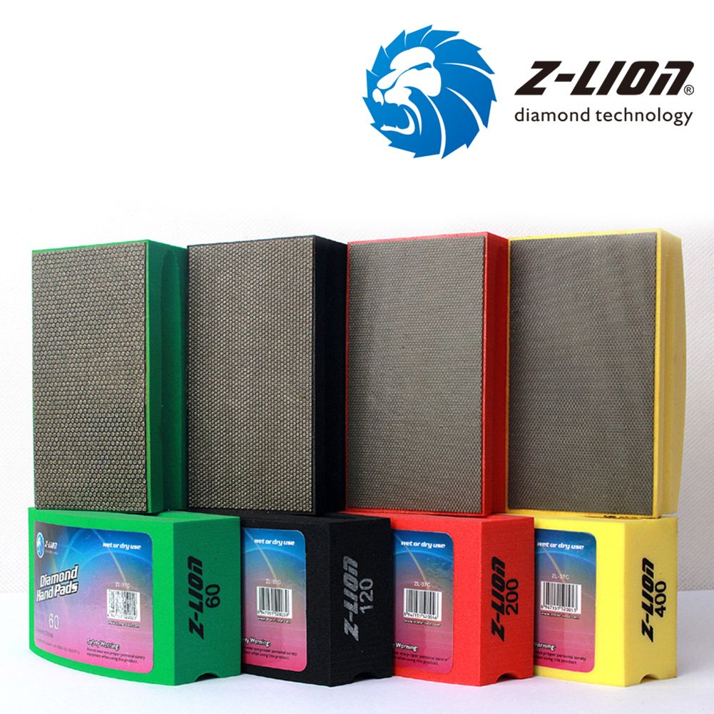 More buying choices for Z-Lion Diamond Hand Polishing Pads Arc Shape Back for Glass Stone - Pack of 8 Pcs by Z-LION (Image #4)