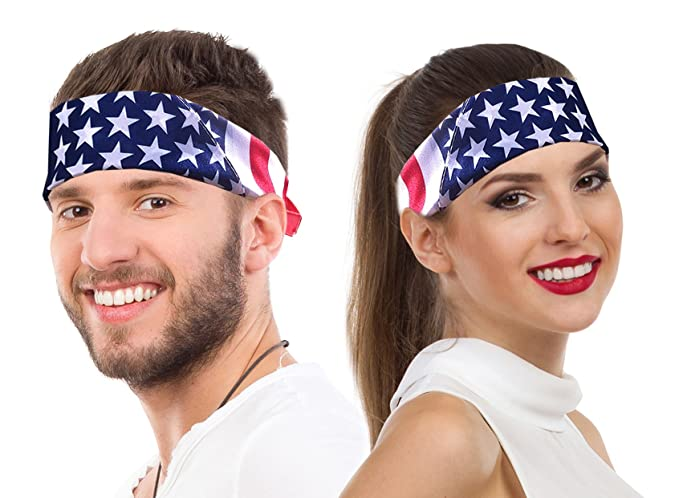 0ad9f98056e62 American Flag Bandana Headband USA Bandana USA Apparel USA Clothing Bandana