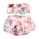 Baby Girl's Bloomer and Headband Set with Big Bow Galabloomer
