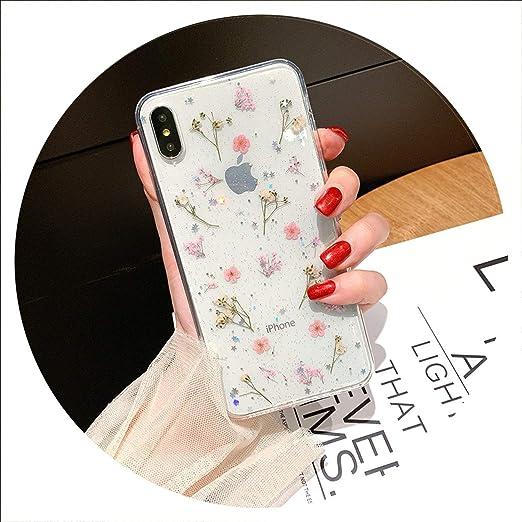 Coque pour iPhone X XS Max XR 6 6S 7 8 Plus Motif fleurs séchées ...