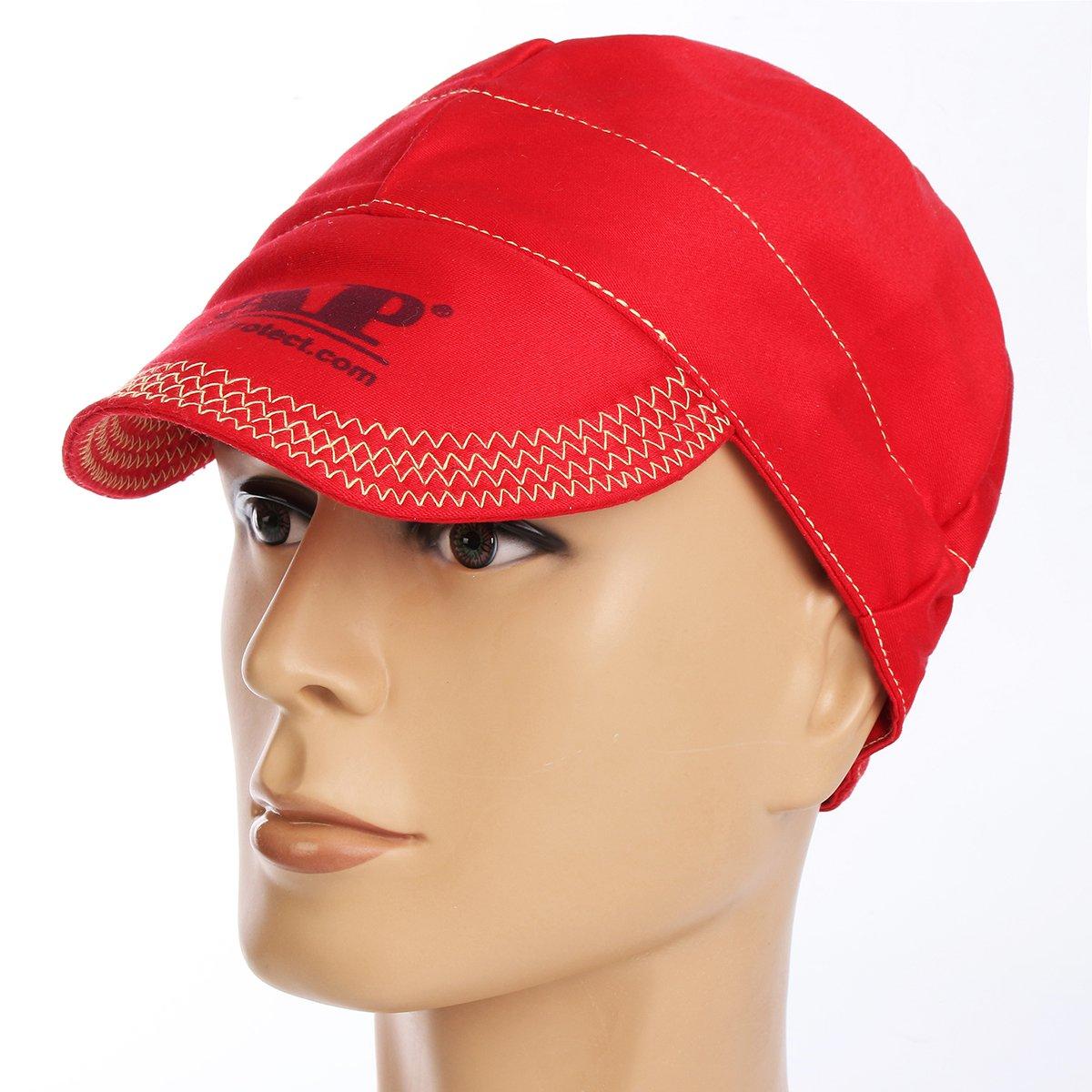 Faway Elastic Welding Hat, Welding Flame Retardant Cloth Hat Cap Head Protection
