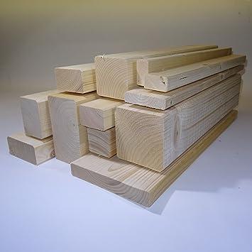 Ein Rahmenholz gehobelt unbehandelt Fichte Breite/Höhe/Länge 40mm x ...