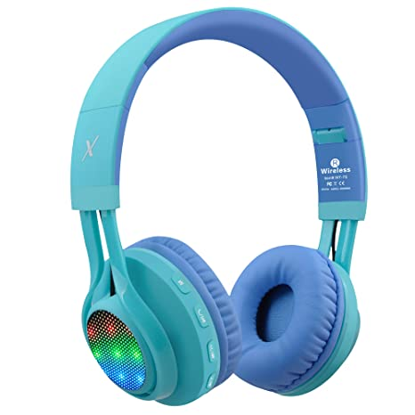3ca959befe5 Amazon.com: Riwbox WT-7S Bluetooth Headphones, LED Light Up Wireless  Foldable Stereo Headset with Microphone and Volume Control for  PC/iPhone/TV/iPad ...