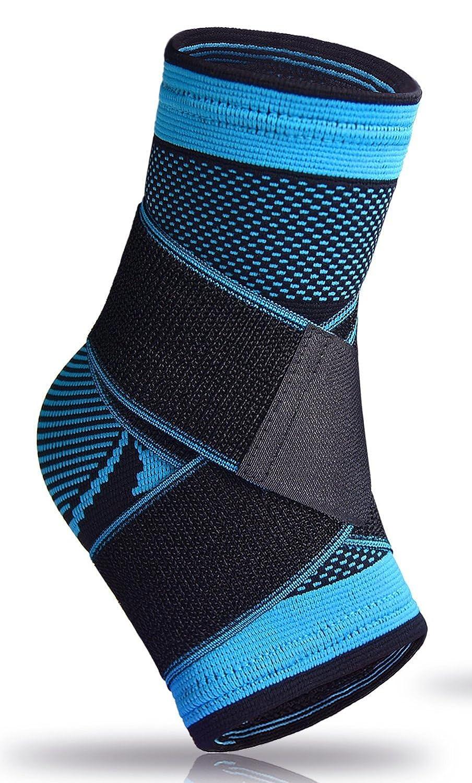 Calcetines para fascitis plantar, con apoyo en el arco, para hinchazón, el tendón de Aquiles y tobillo, con compresión, alivio del dolor, azul