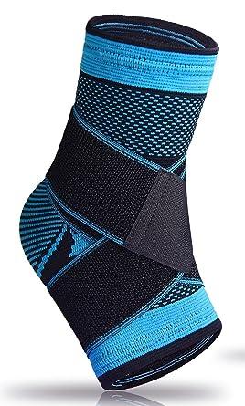 Calcetines para fascitis plantar, con apoyo en el arco, para hinchazón, el tendón de Aquiles y tobillo, con compresión, alivio del dolor, azul: Amazon.es: Deportes y aire libre