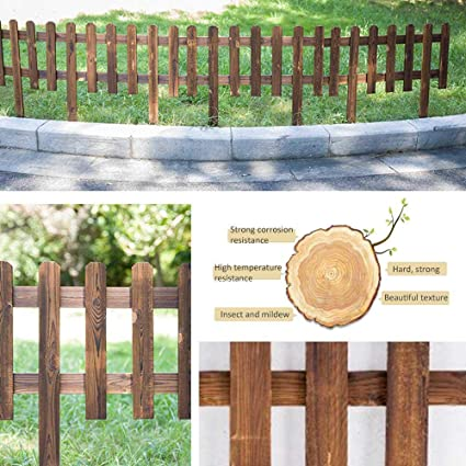 Wooden Picket Fence,Garden Wood Border Fence,Instant Fence Panels