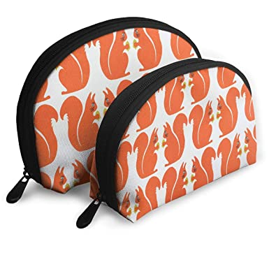 4addbd3ec714 Amazon.com: Portable Shell Makeup Bag Clutch Toiletry Pouch Squirrel ...