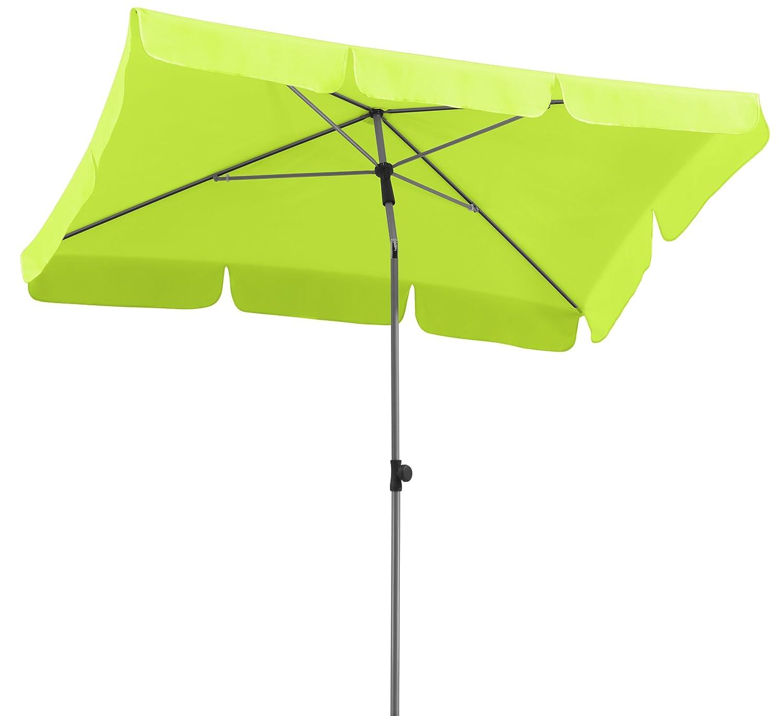 Amazon Schneider Sonnenschirm Locarno apfelgrün 180x120 cm rechteckig Gestell Stahl Bespannung Polyester 2 3 kg