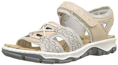 Bestbewerteter Rabatt Outlet-Store neueste Rieker Damen 68865 Geschlossene Sandalen