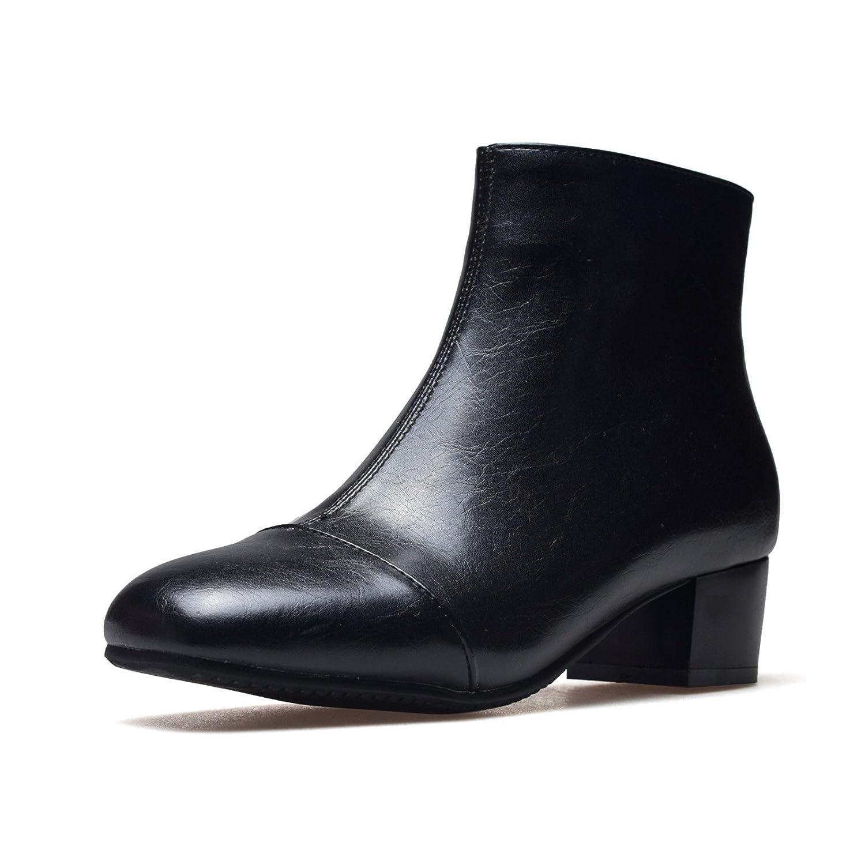 DYF Frauen Schuh kurze Farbe Stiefel grobe High Heel Farbe kurze Martin Platz Kopf A 32 7eaf67