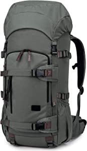 TAK 50L Hiking Internal Frame Backpack with Rain Cover for Trekking Travel Camping Tactical Military