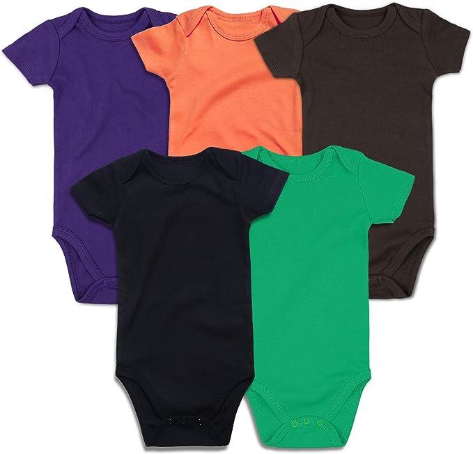 RomperinBox Plain Unisex Baby Bodysuits Packs
