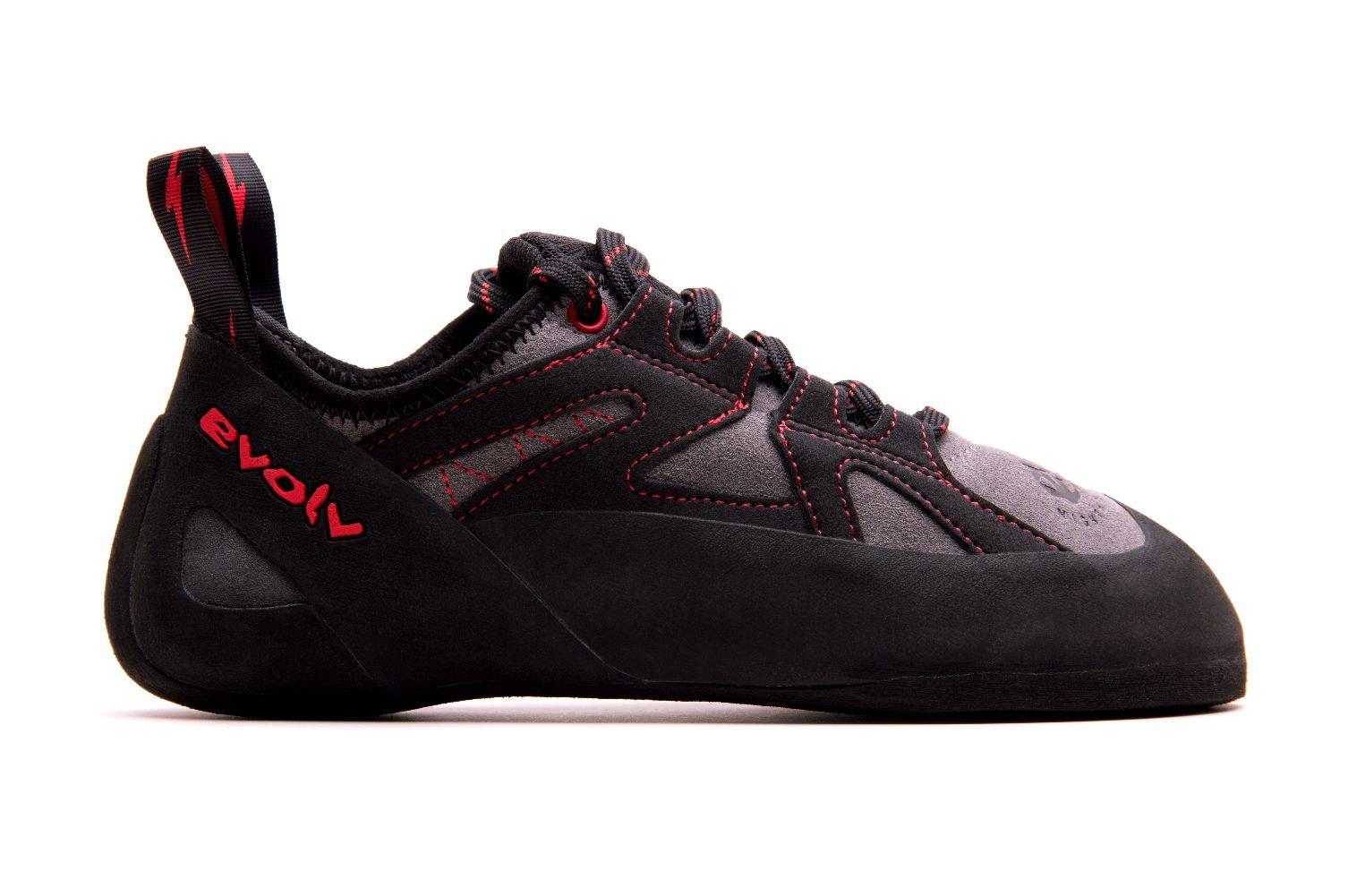 Evolv Nighthawk Climbing Shoe - Men's Gray/Black 12.5 by Evolv